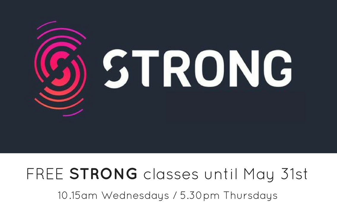 Register here for FREE 'STRONG' classes until May 31st